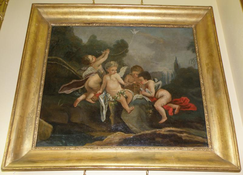18th Century Master, Putti with a bird