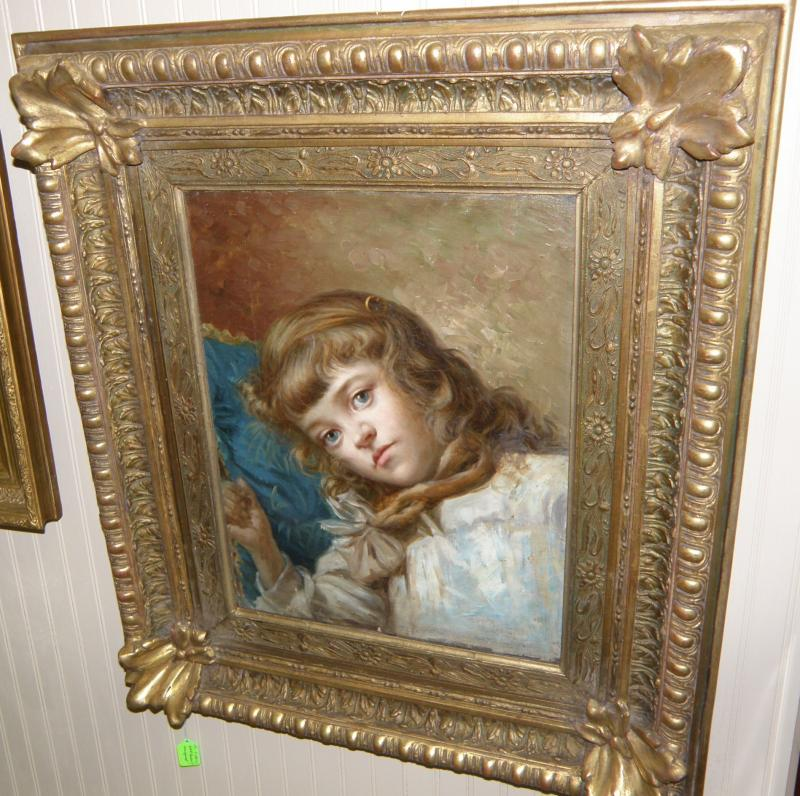 18th Century Victorian Girl's Portrait, unsigned
