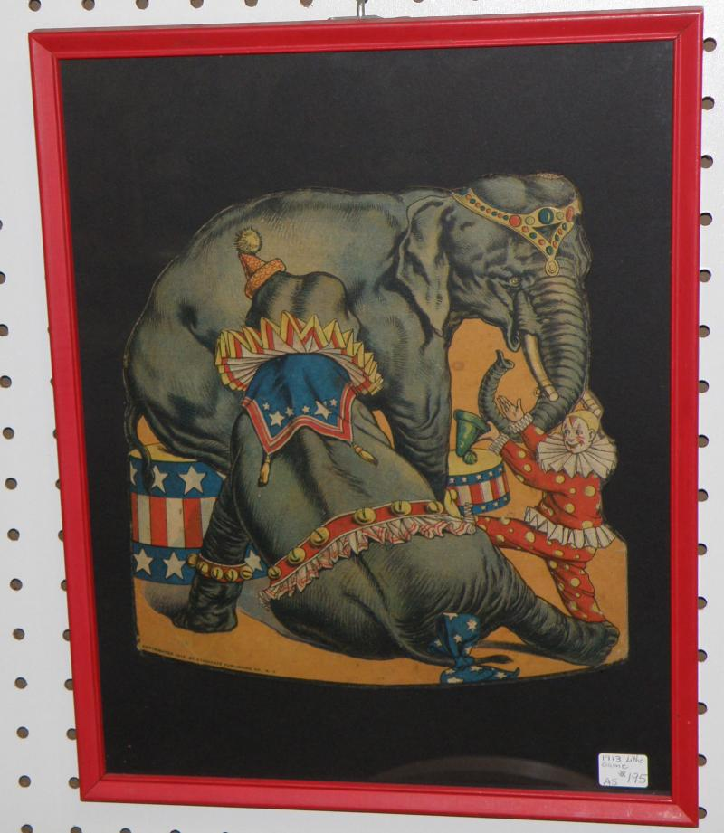 1913 Circus Lithograph Game
