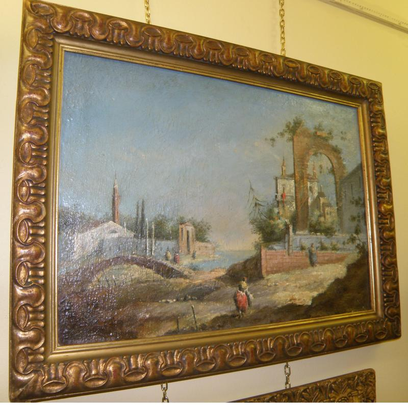 19th Century French oil signed  on canvas