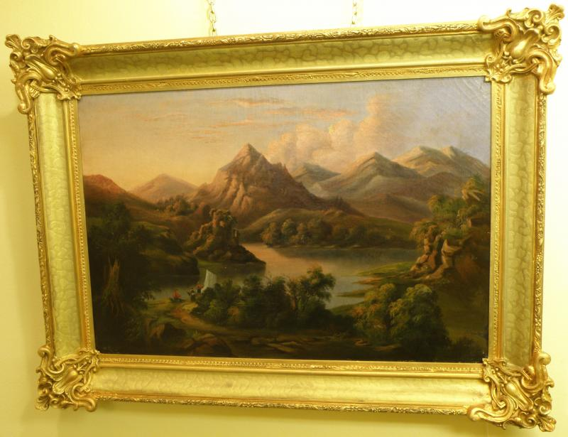 19th Century  Hudson River Landscape  oil on canvas
