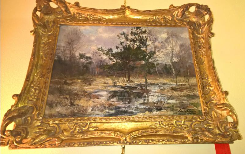 19th Century Spring Landscape oil on canvas signed Louis Glassis (illegible),