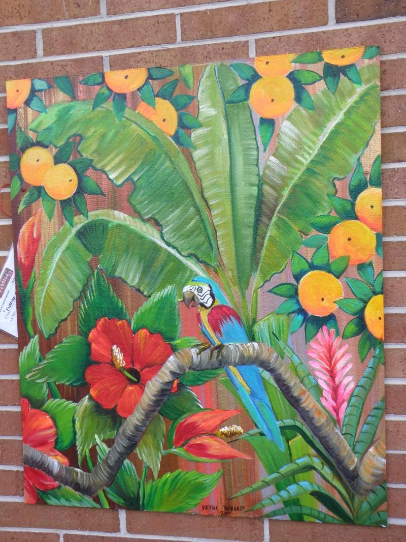Betsi Burgess Tropical Parrot