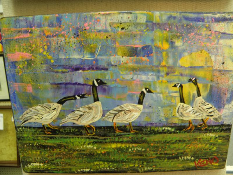 Canada Geese Folk Art by Keno 