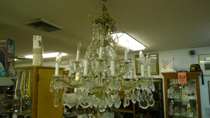 Chandelier from beach-front Mansion