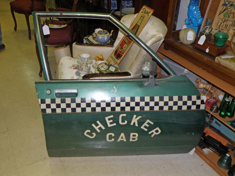 Checker Cab Door