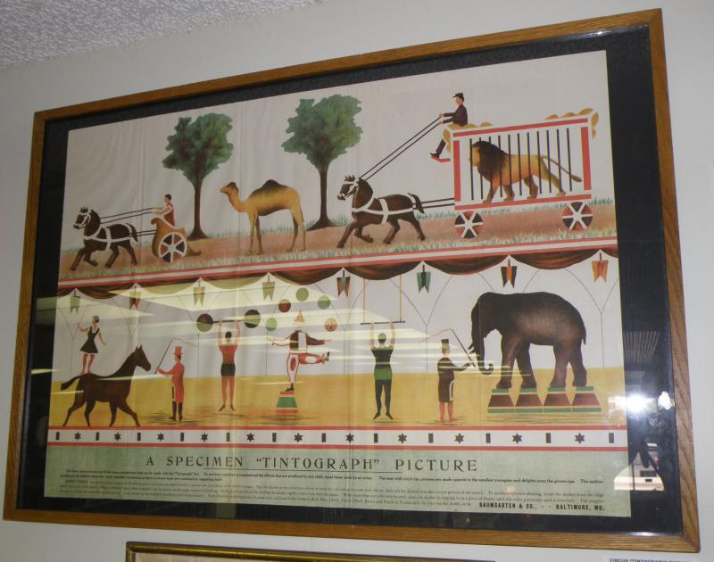 Circus 'Tintograph' Picture 23 x 33. Baumgarten & Co.- Baltimore, MD