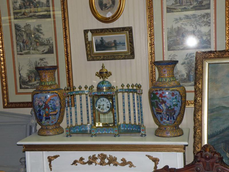 Cloisonne Mantle Clock