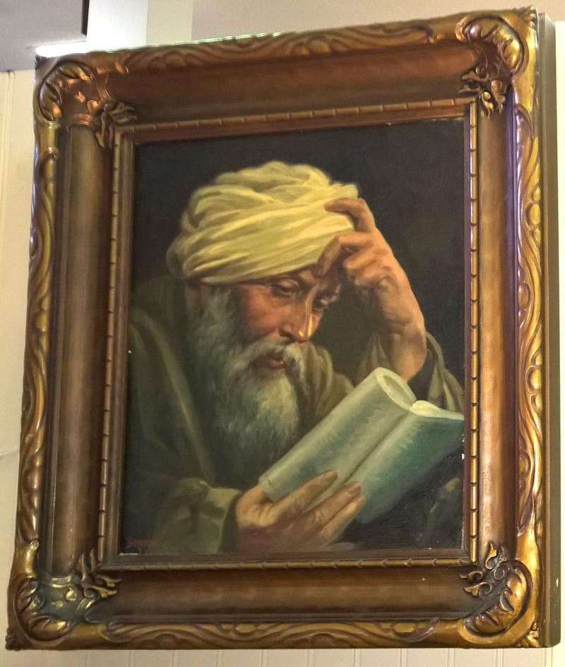 Dolph Hensel,  Reading the Koran, oil on canvas