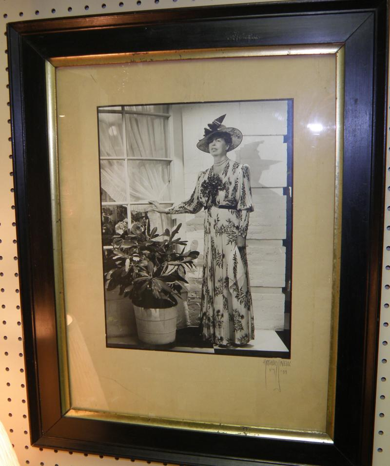 Eleanor Roosevelt Photo  Signed Arthus O'Niell 1937. Hat and Dress designed by L