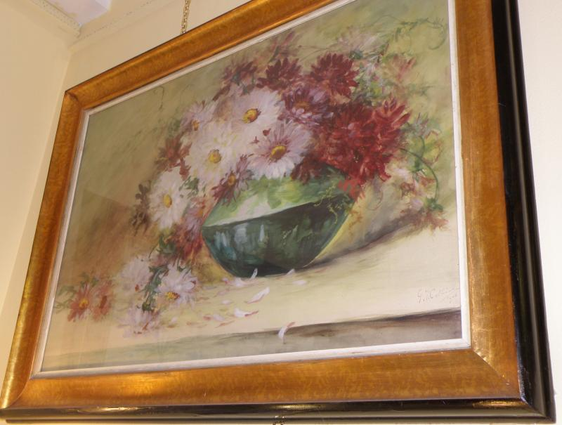 French Still Life Flowers Watercolor
