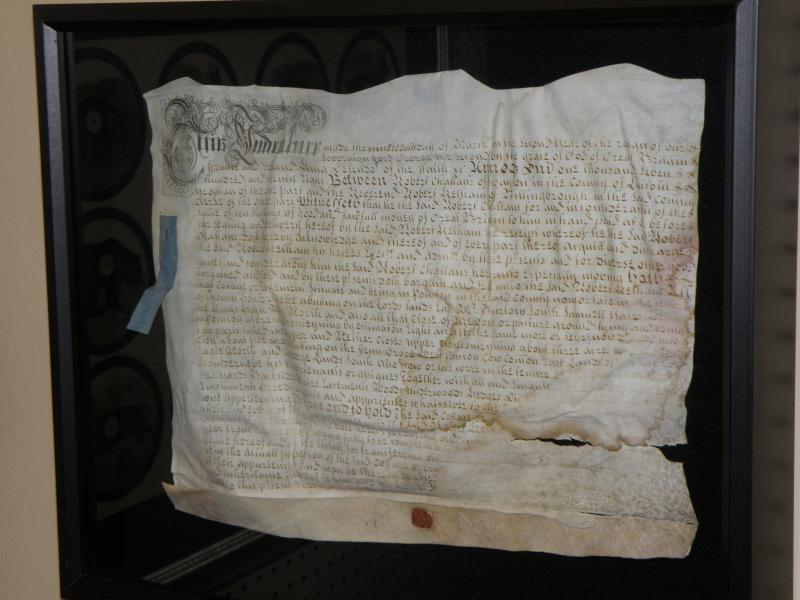 Indenture on parchment from 1728 with original stamps and seals