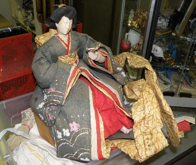 Japanese 19th Century Paper Mache Doll