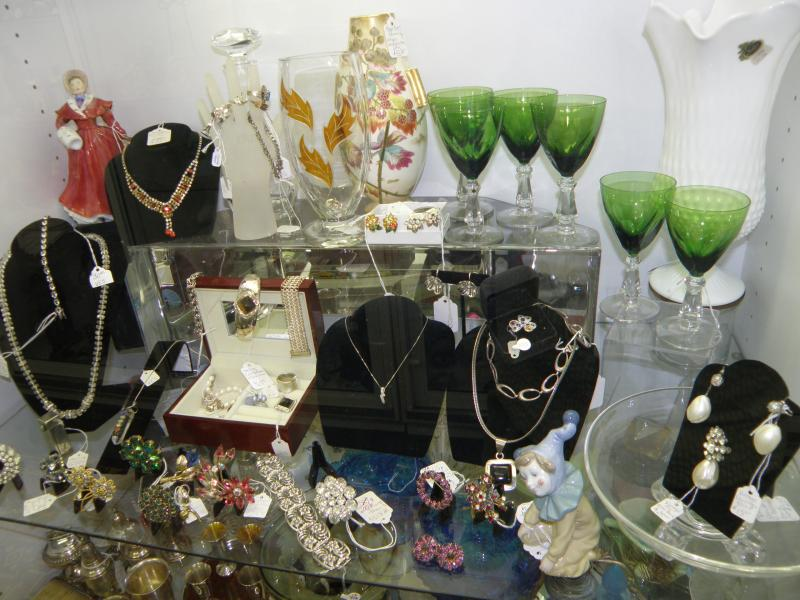 Jewelry and Green Goblets