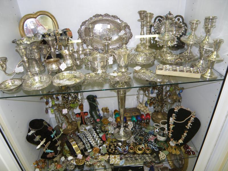 Jewelry and sterling silver display case