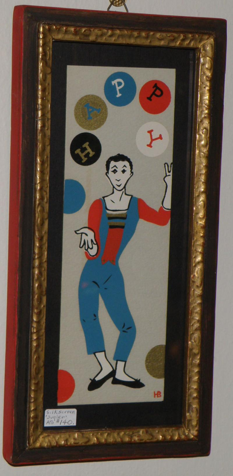 'Juggler', Silk Screen