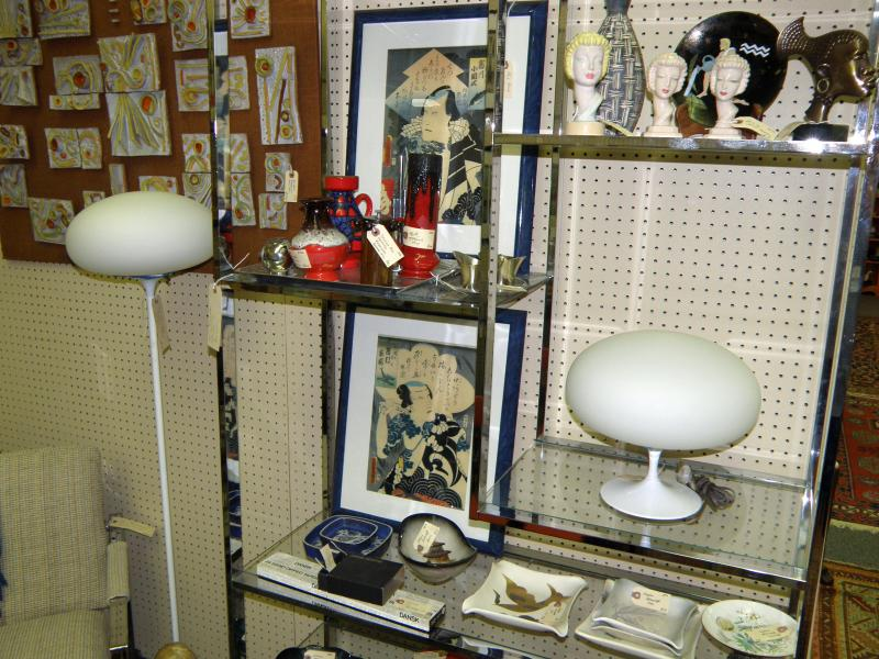 Laurel Mid Century Mushroom Lamps, Floor and Table.