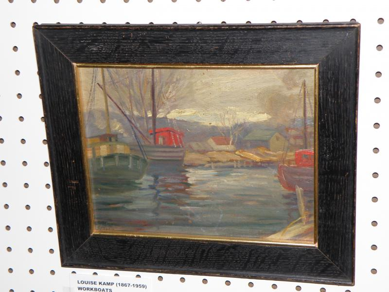 Louis Kamp  1867-1959  Workboats oil on canvas