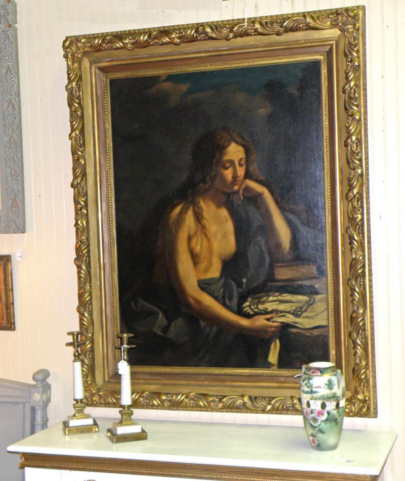 Mary Magdalene Early 1900's by Francis Marloralli, oil on canvas