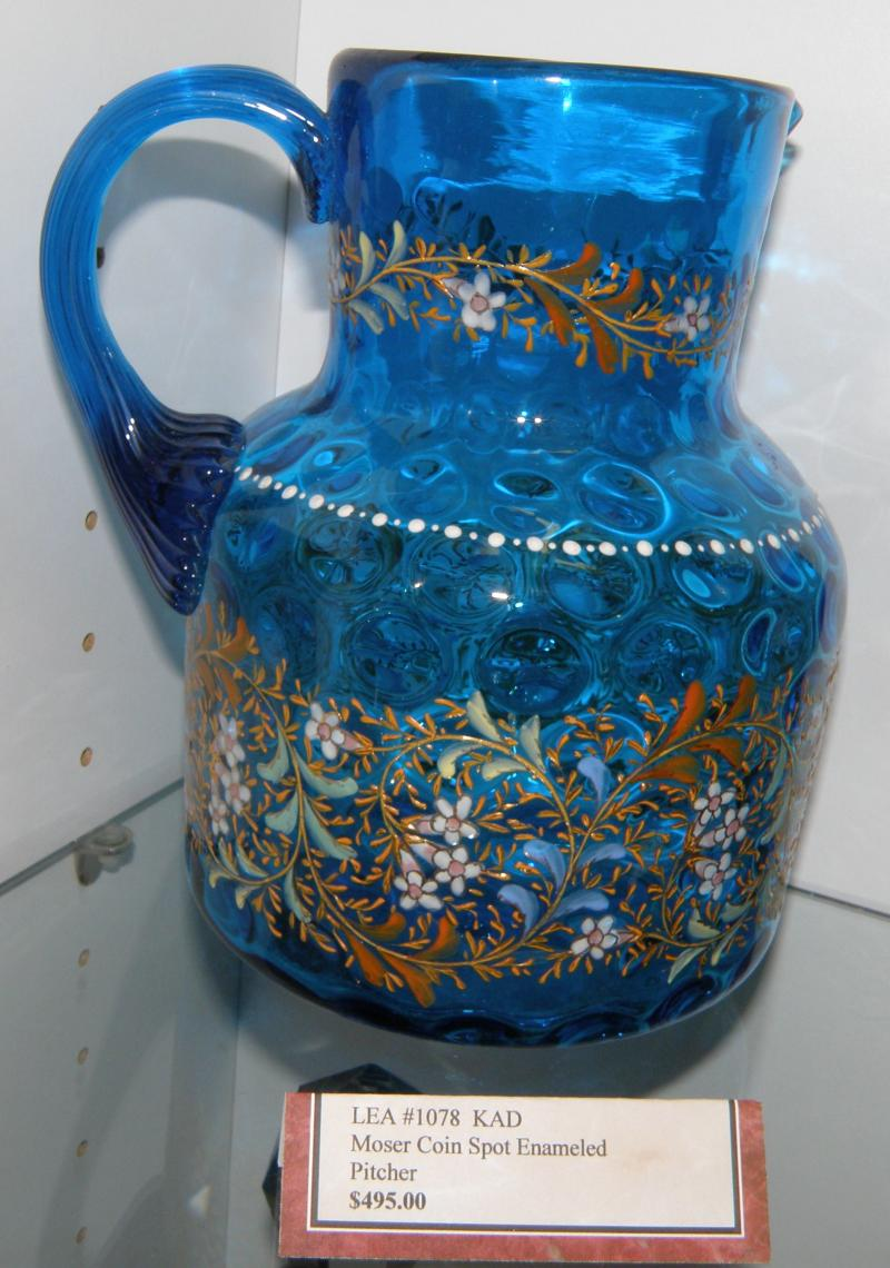 Moser Coin Spot Enameled Pitcher  $495