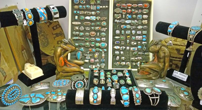 We have beautiful and rare pottery, jewelry and baskets from the major Southwest