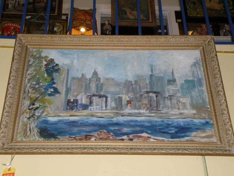 New York City view by listed American artist Sabatucci