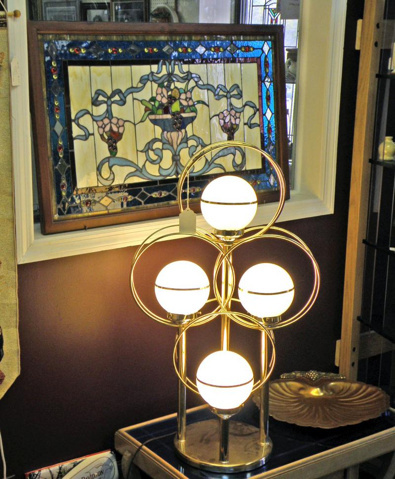 Nice Lamp and Stained Glass Panel
