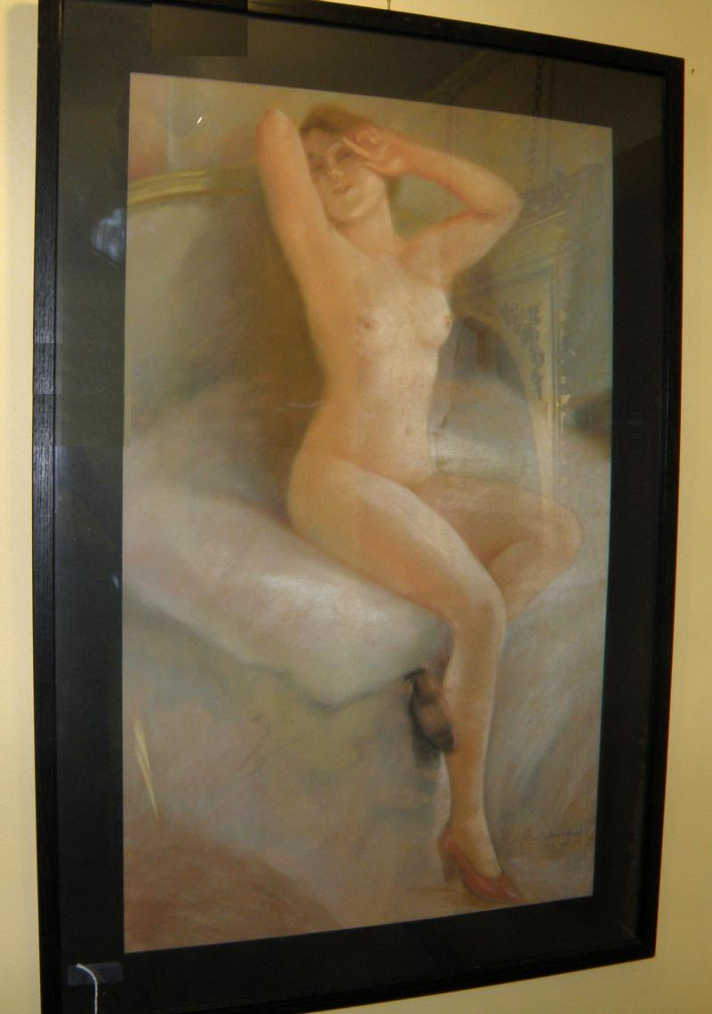 Nude Pastel, 1925, Signed