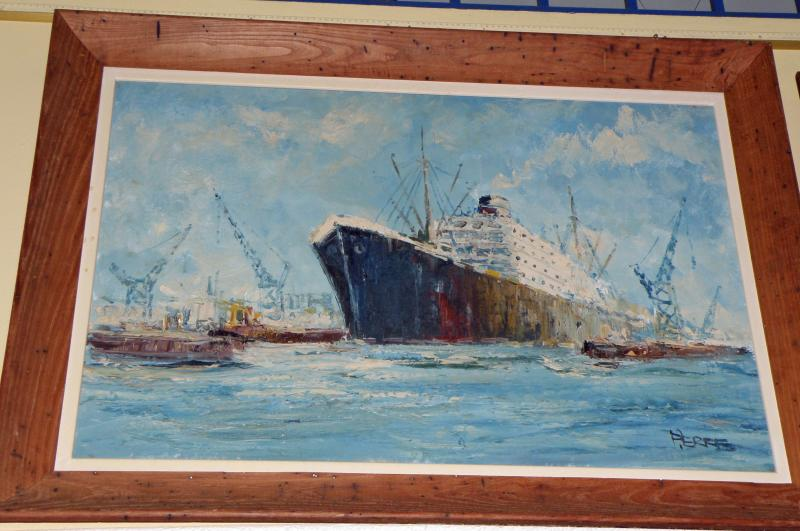 Ocean Liner, an oil on canvas by Pierre