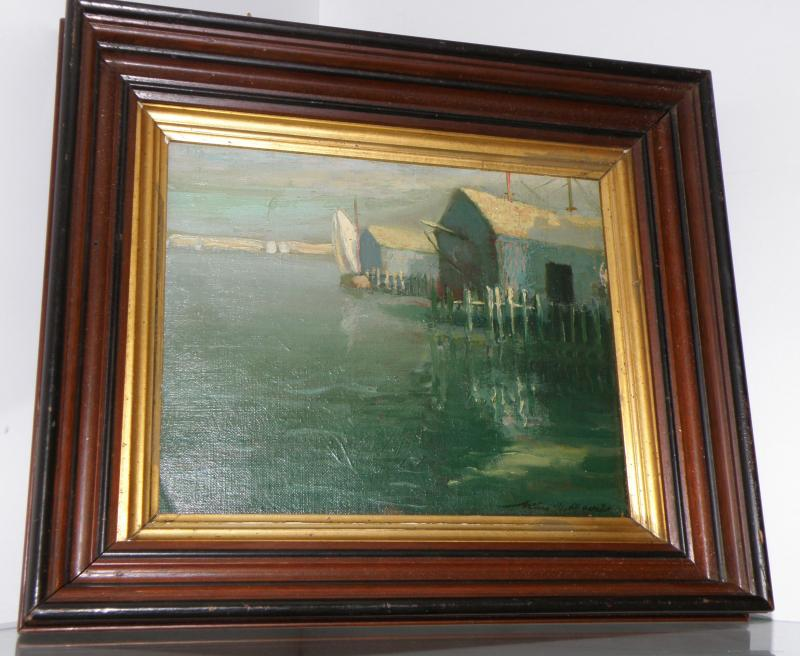 Oil on Board. Signed, Arthur Davies