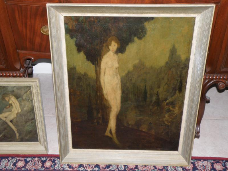Oil on Canvas by Listed Artist Warren B Davis, Titled Eternity Depicts Nude