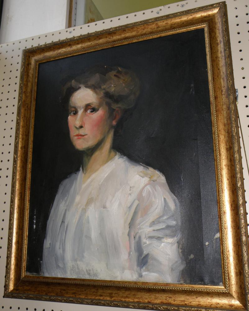 Oil on Canvas of a Woman  attributed to George Bellows
