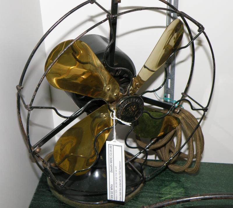 Old Brass Blade fan by General Electric