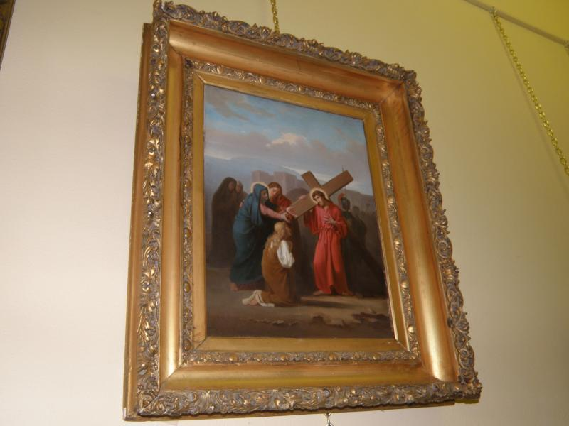 Old Master 19th Century painting, 'Station of the Cross'