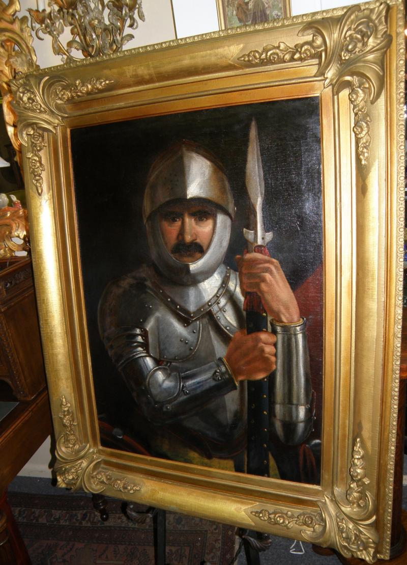 Old Master School  19th C  Portrait of a Knight