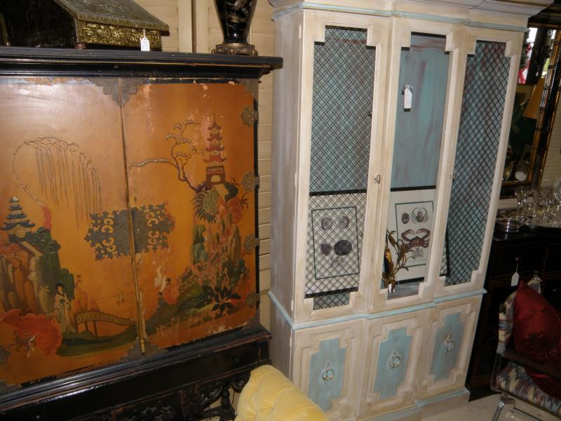 Oriental Cabinet and Painted Breakfront
