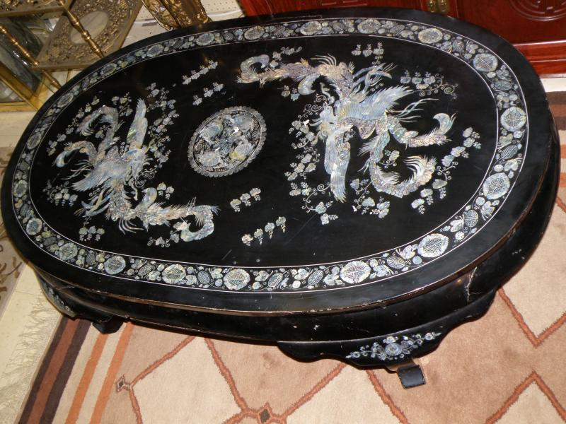 Oriental Mother of Pearl Coffee Table