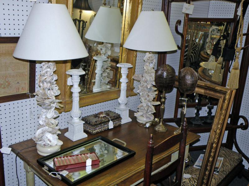 Oyster Shell Lamps