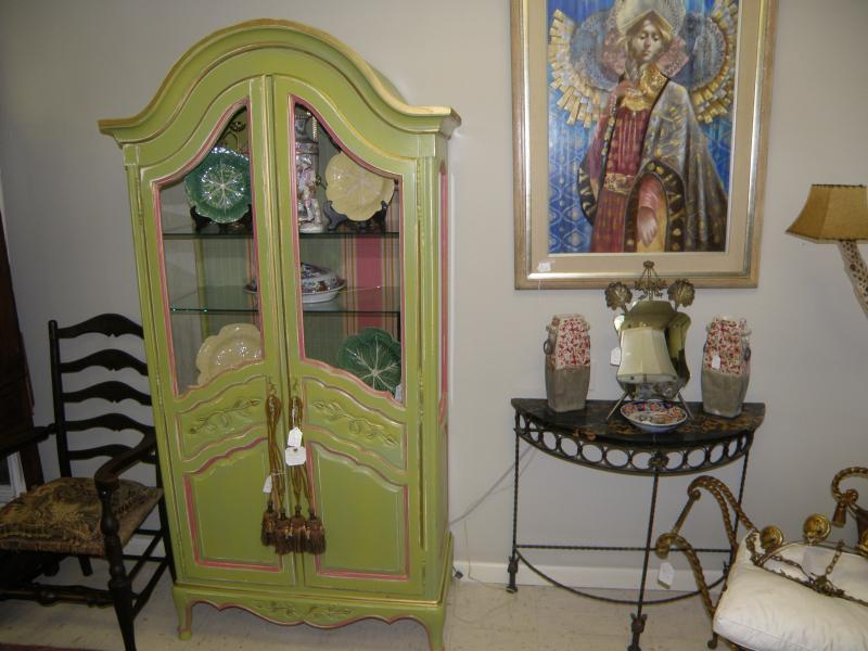 Painted 2-door French style Cabinet