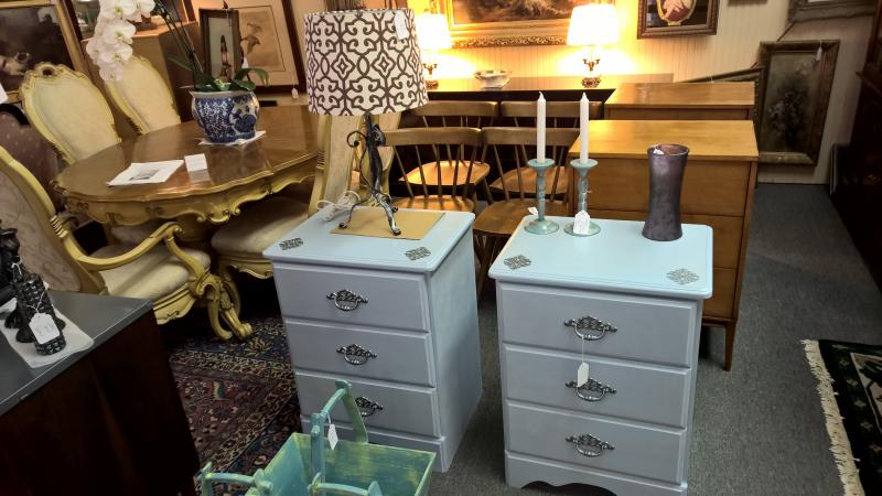 Pair Painted Nightstands