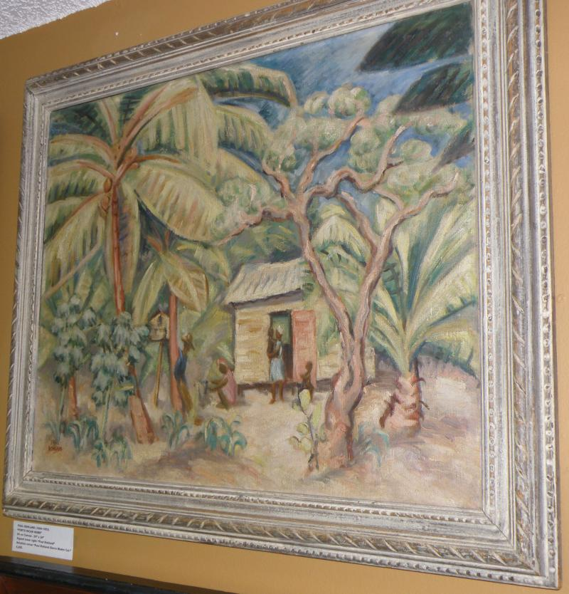 Paul Rohland (1884-1953) 'Puerto Rican Home'. Oil on canvas 25 x 30. Signed LR.