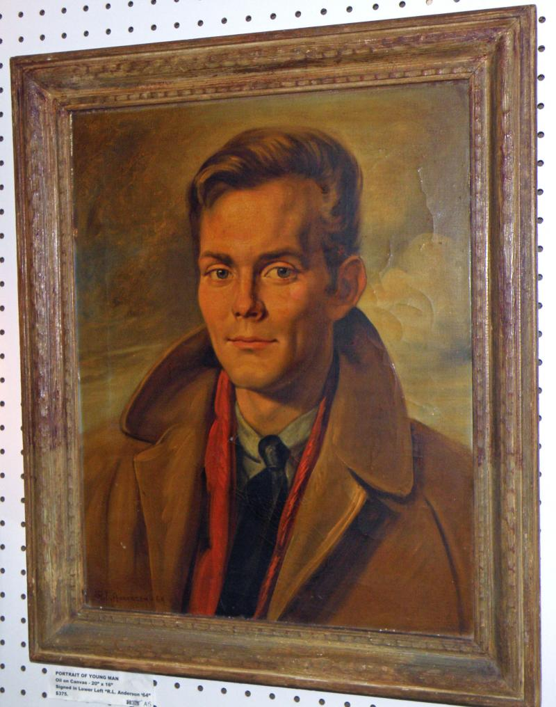 Portrait of a Young Man, Oil on Canves  20 x 16. Signed LL 'R.L. Anderson  '64'