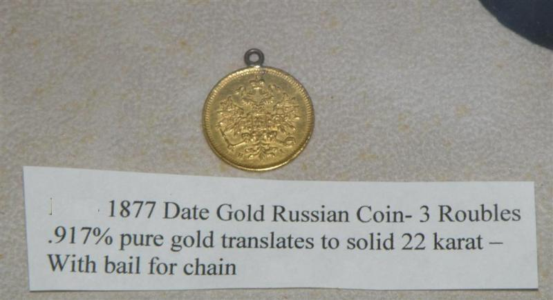 Russian Coin 1877 22 karat gold