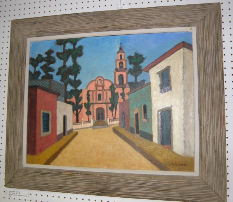 San Miguel Allenda, oil on canvas,  20 x 26, Signed 'Dorthy Underhill'
