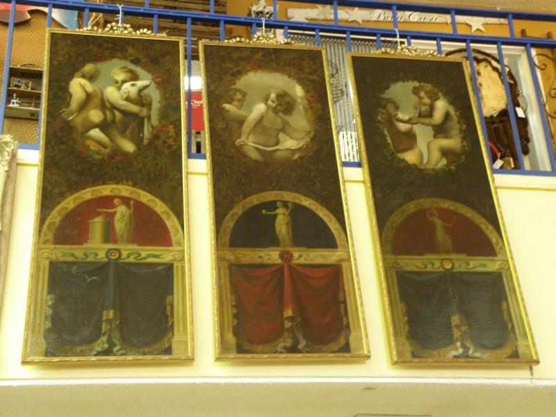 Set of three Old Master Religious Paintings  - no flash