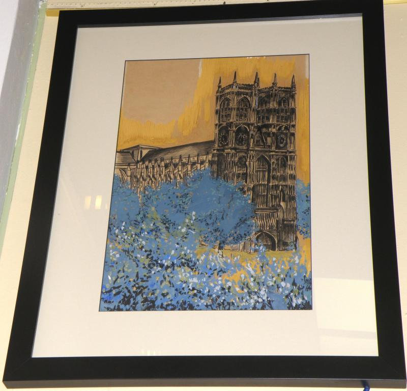 Signed original   Westminster Abbey  25 x 31