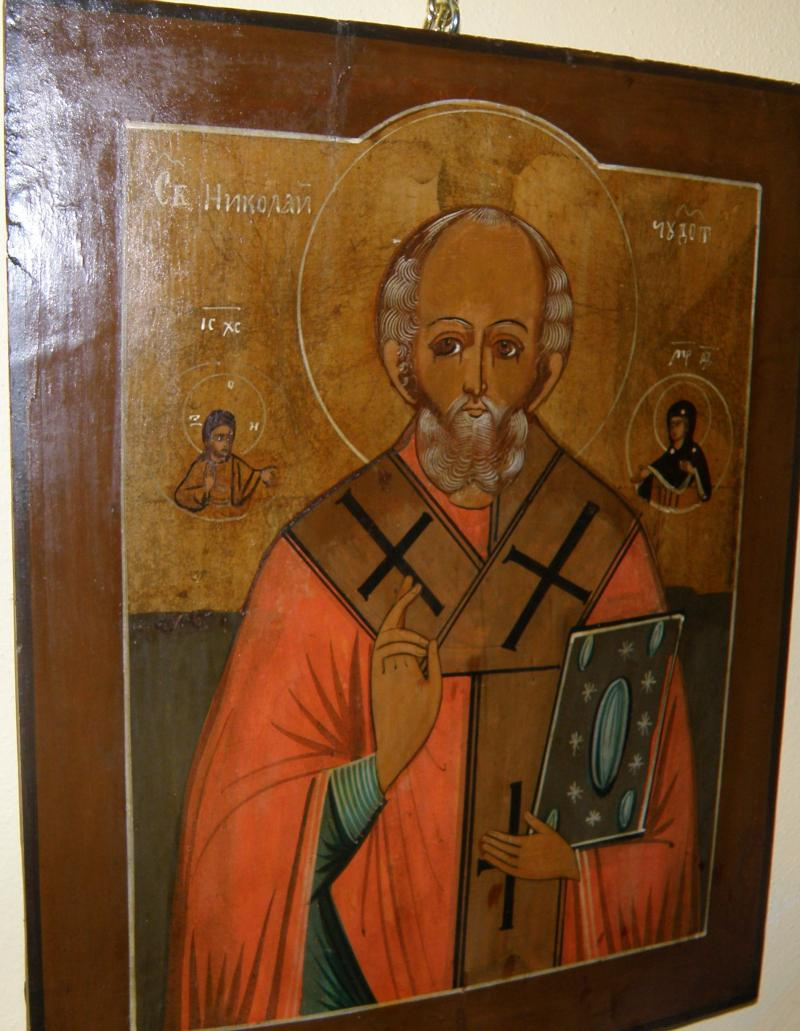 St Nicholas, 19th Century Russian Icon