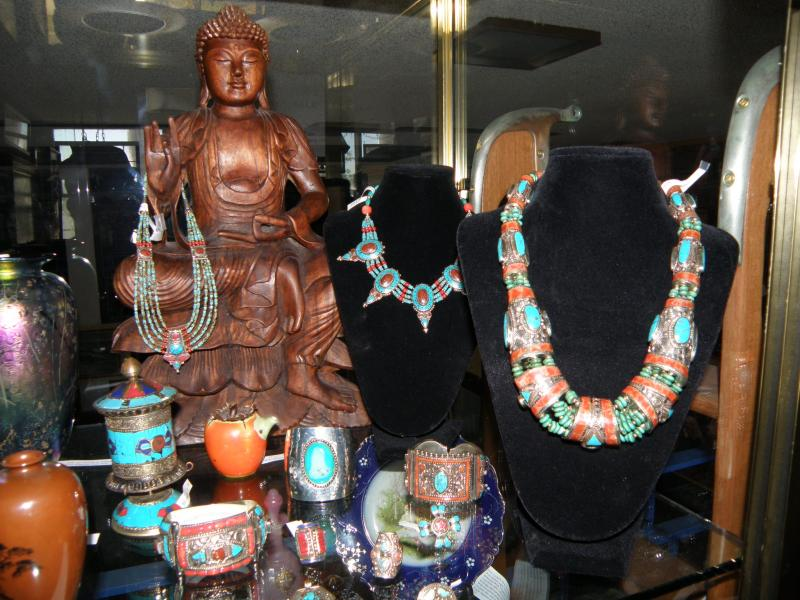 Thai Jewelry with Indonesian Carved Goddess