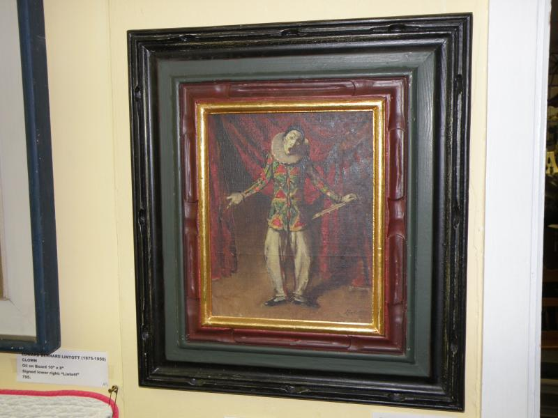 The Clown, Oil on Board, 14 x 18, After John Teyral. Signed LR 'JMW'