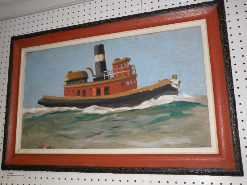 Tugboat  oil on masonite